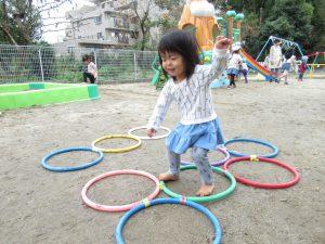 幼児さんのフラフープにも挑戦!!