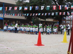 ひよこ組さんは、初めての運動会です。