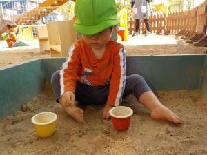 サラサラのお砂で